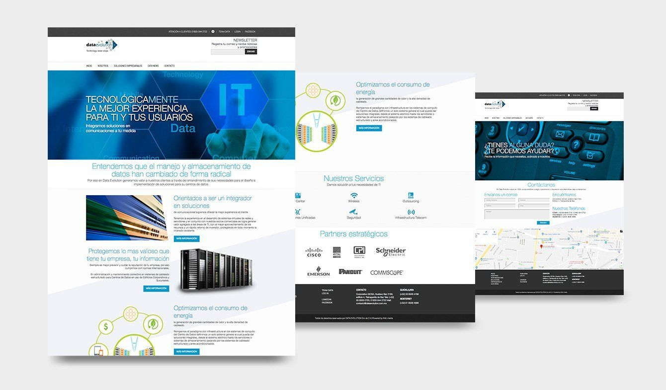 Diseño sitio web Data Evolution, 2017