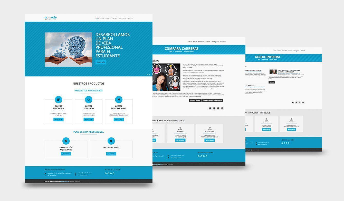 Diseño de Sitio Web Accede Educación, 2015