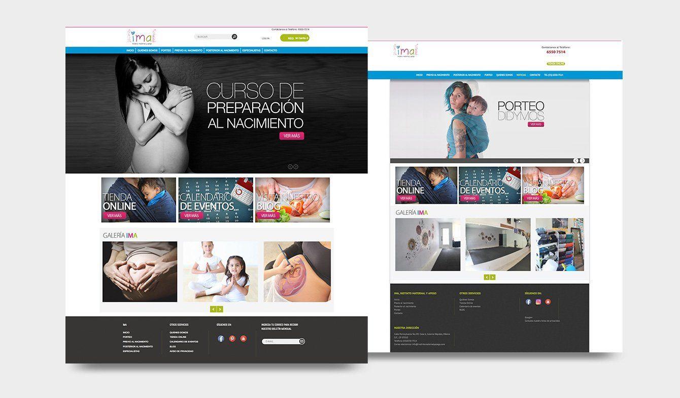Sitio Web IMA, Instinto Maternal y Apego