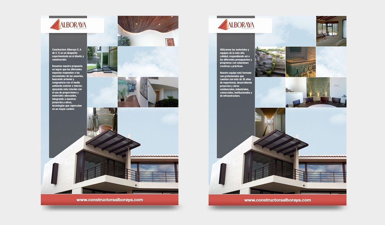 Brochure de presentación Constructora Alboraya, 2015