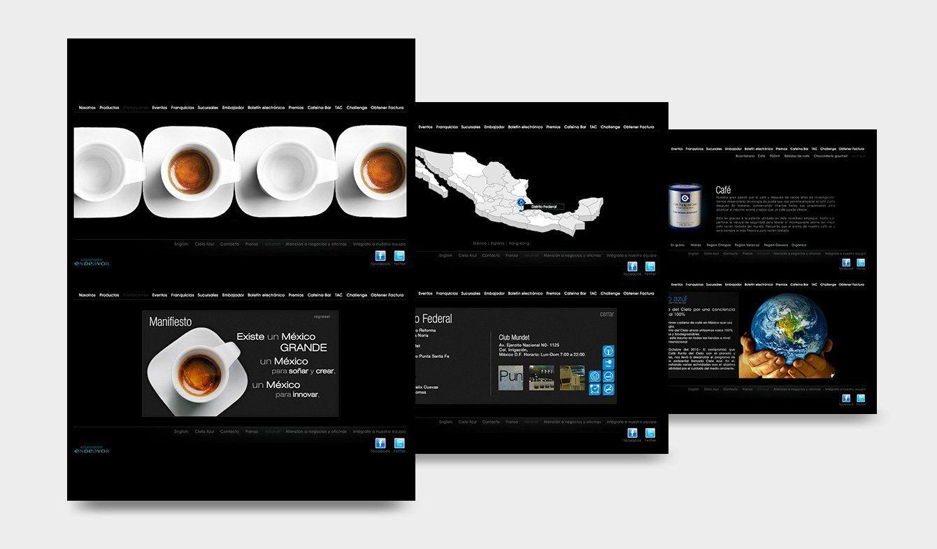 Sitio Web Café Punta del Cielo de 2010 a 2014 aprox