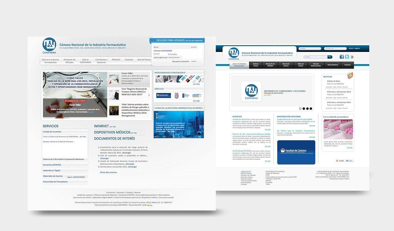 Sitio Web, Cámara Nacional de la Industria Farmacéutica, CANIFARMA 2013
