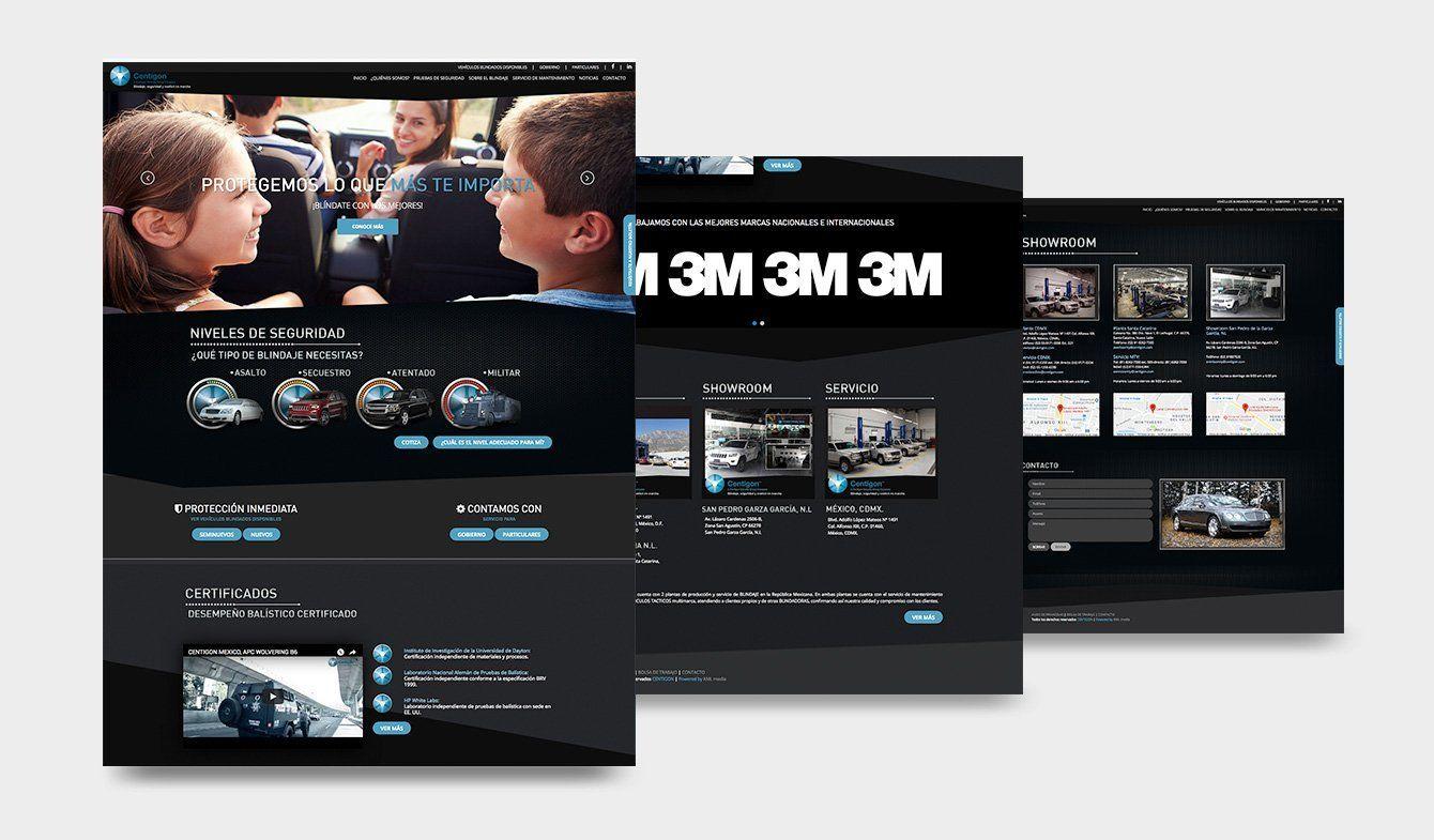 Diseño Sitio Web Centigón 2017