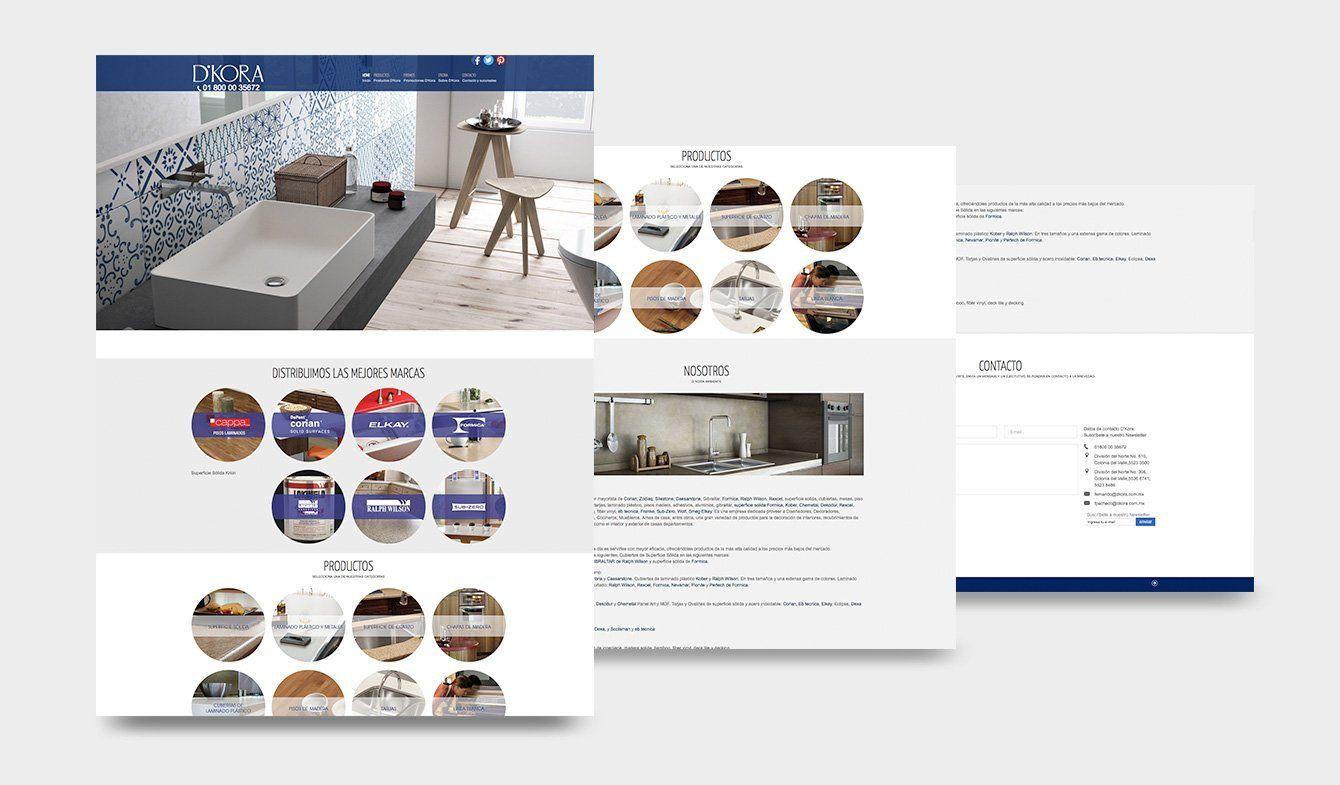 Diseño sitio web D'Kora, 2015