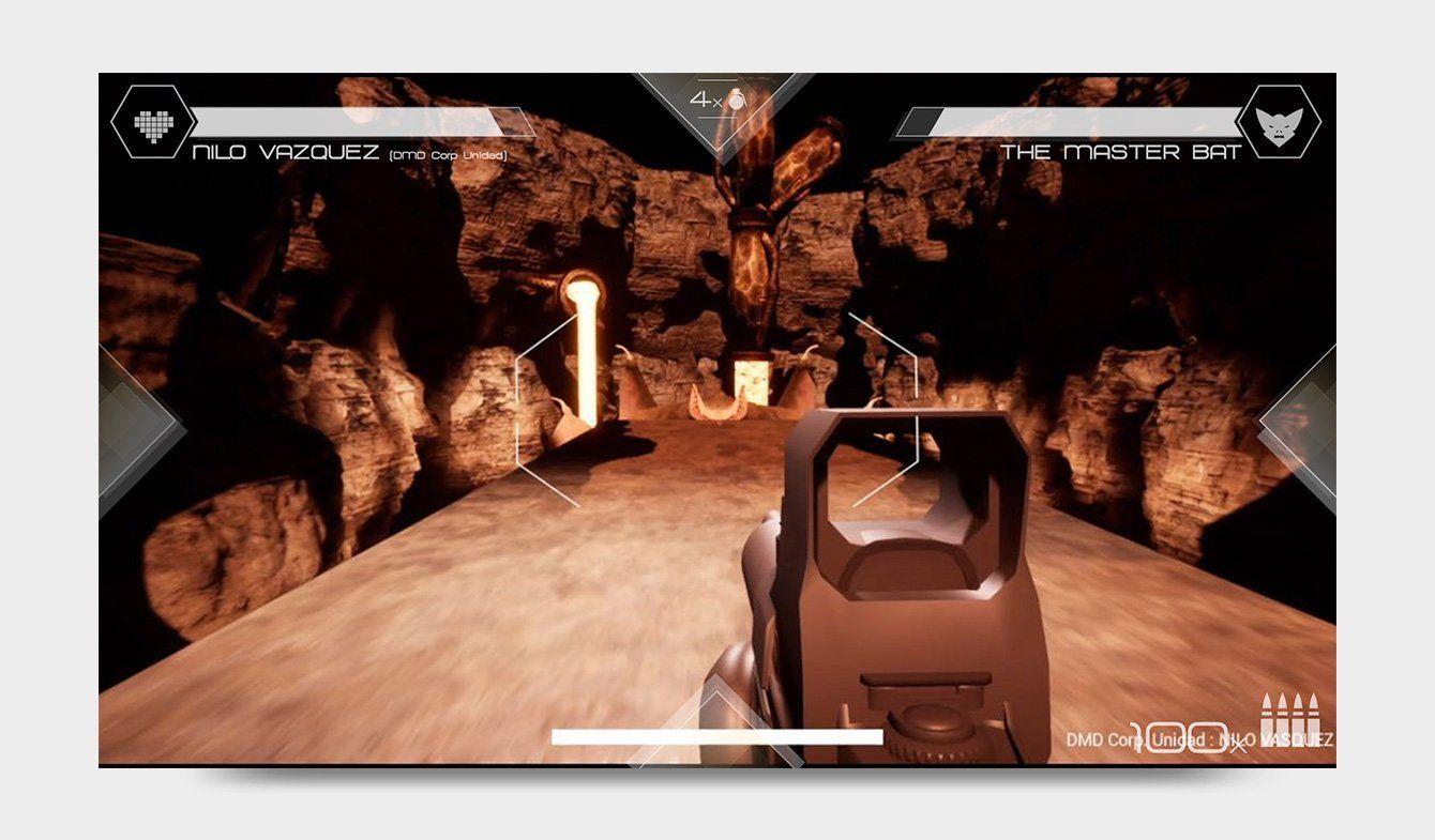 Diseño de HUD para videojuego DMD: Mars Mission, 2018