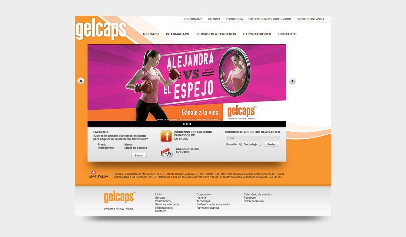Sitio Gelcaps 2010, HTML, jQuery, CSS