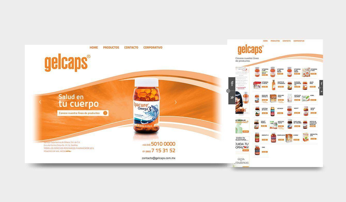 Sitio Web Gelcaps, 2012