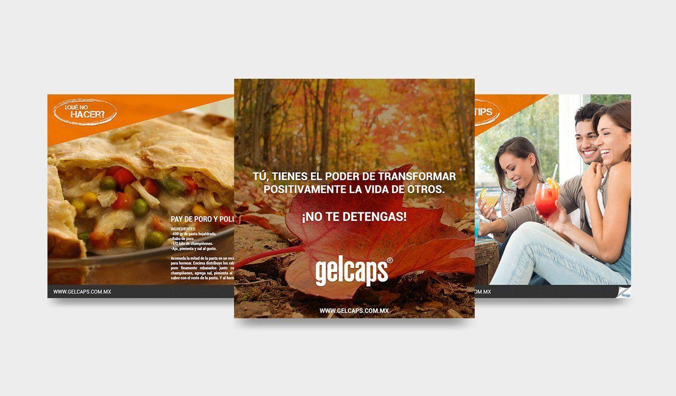 Diseño para publicaciones de Facebook Gelcaps, 2017