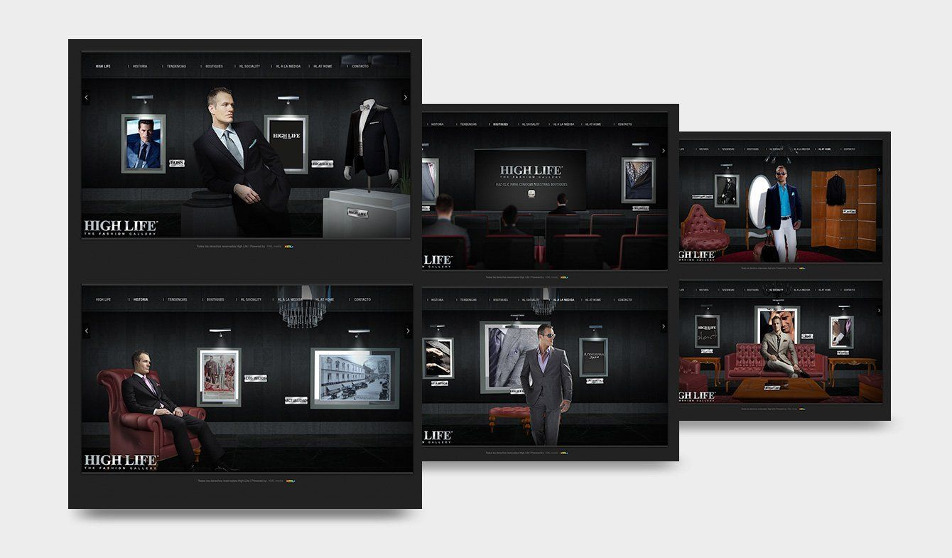 Sitio High Life, HTML, CSS, jQuery, Modelado 3D con Cinema 4D