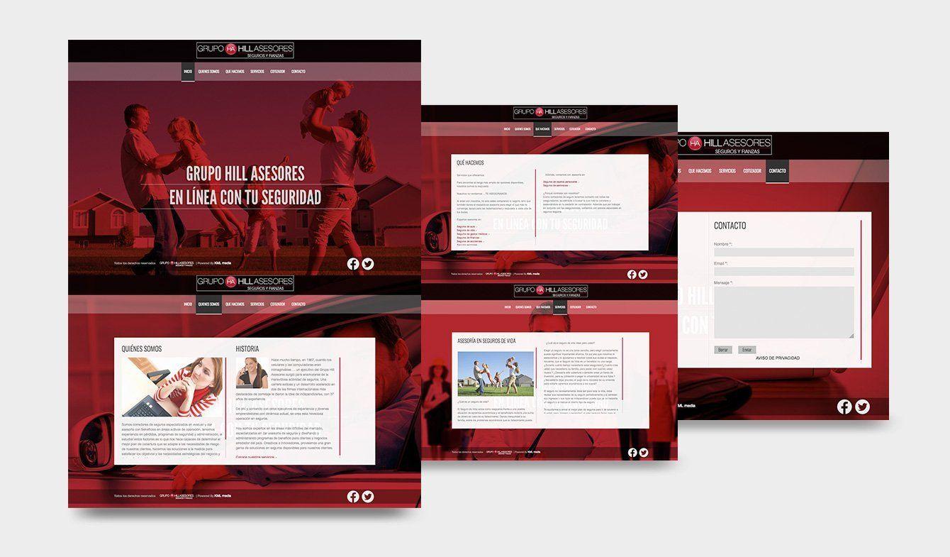 Sitio Web Hill Asesores, HTML5, CSS3, jQuery