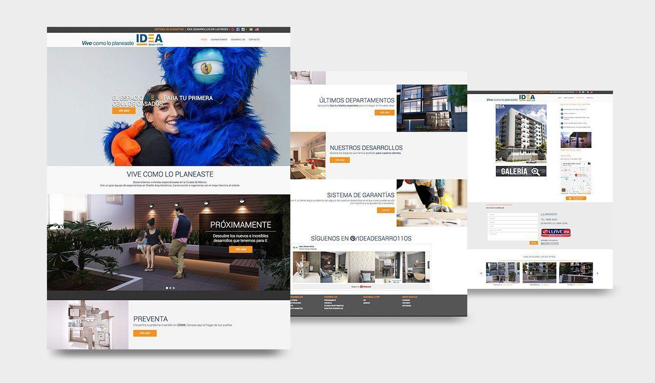Sitio Web Idea Desarrollos, Inmobiliaria