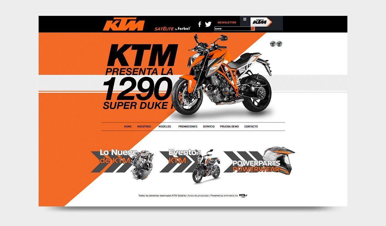 Landing Page KTM Satélite, by Ferbel, 2013