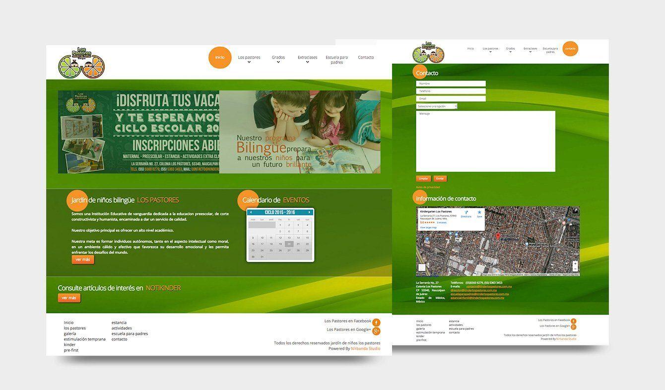 Sitio Web Jardín de niños los Pastores