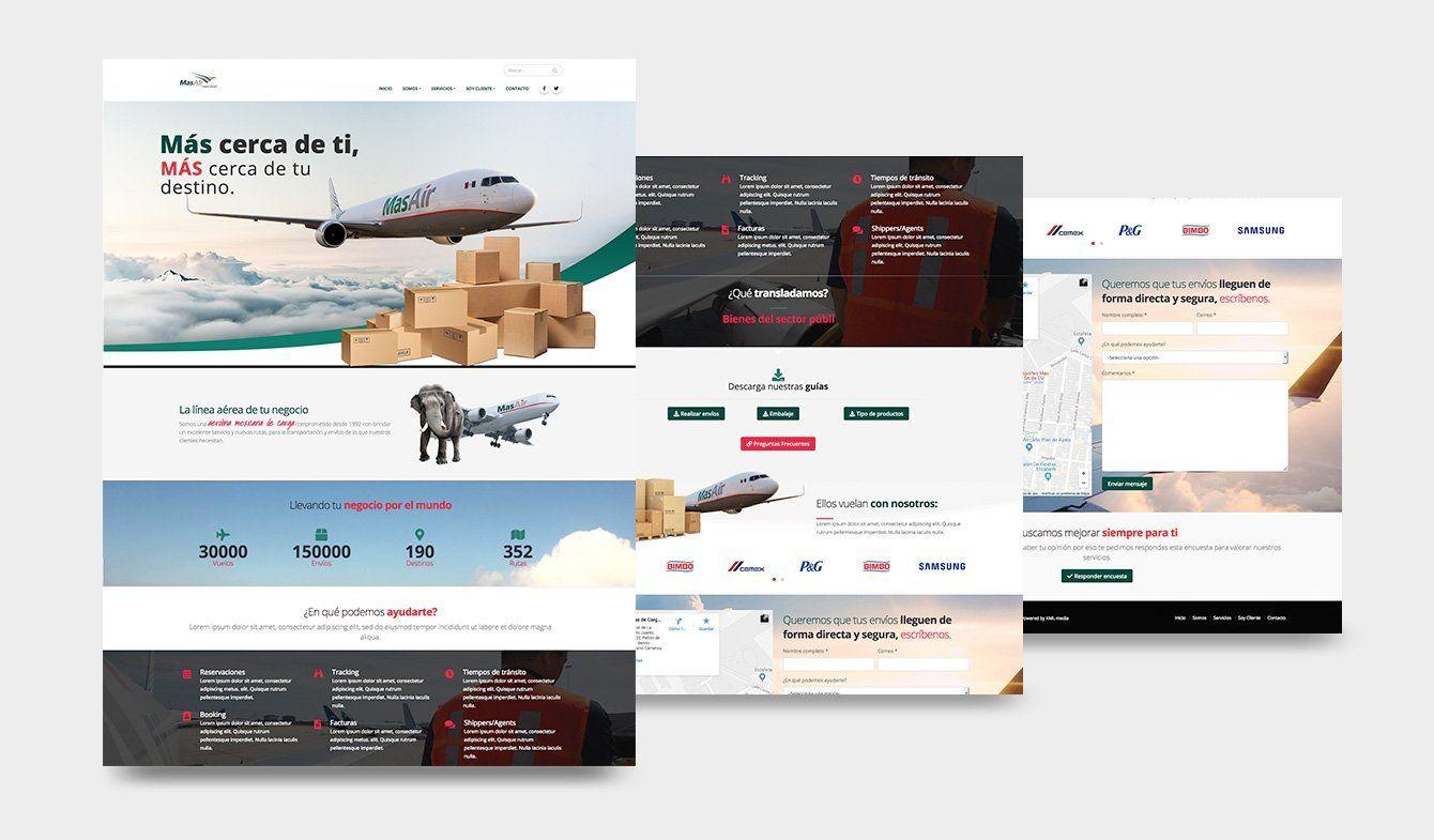 Propuesta de diseño para relanzamiento de sitio MasAir Cargo Airline, 2018