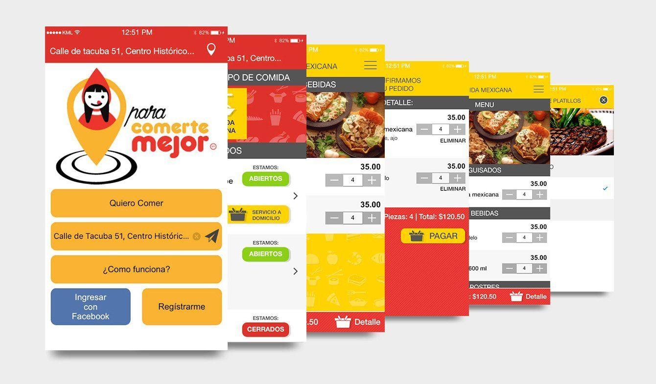 Diseño UX app Para comerte mejor, 2017