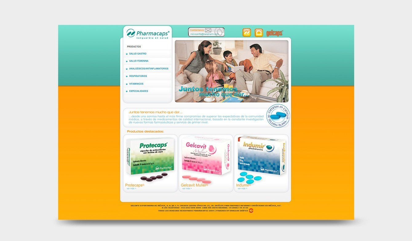 Sitio Web Pharmacaps 2010