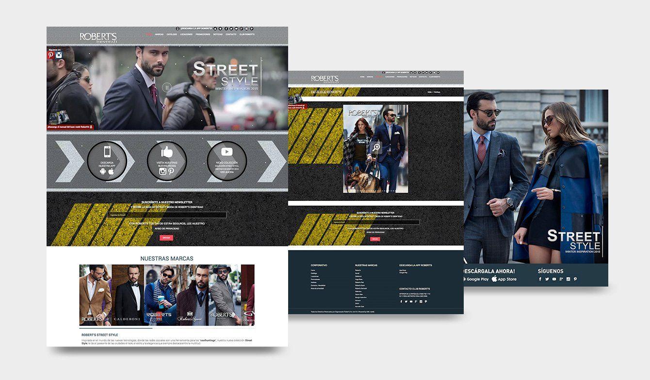 Sitio Web Robert's Identidad Street style, 2015