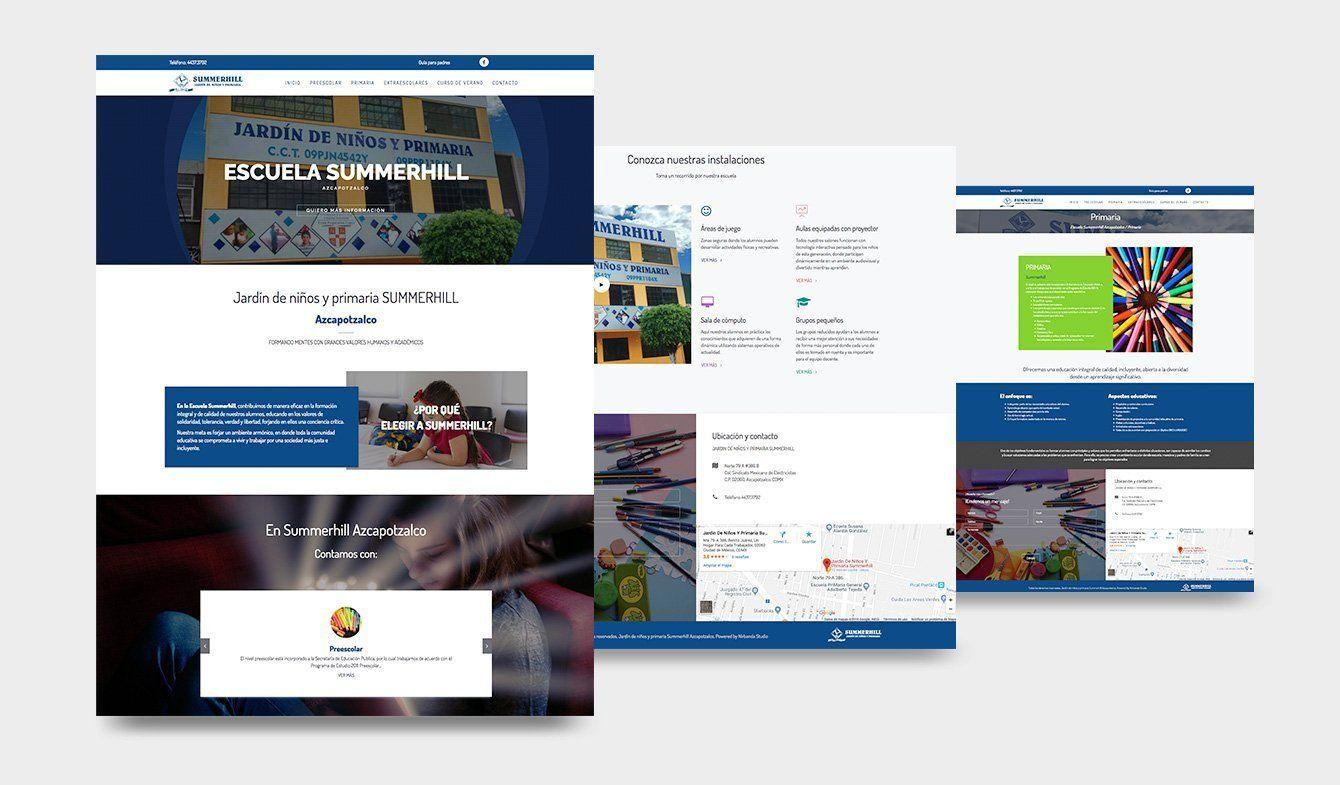Sitio Web Para Escuela Primaria y Jardín de niños Summerhil Azcapotzalco
