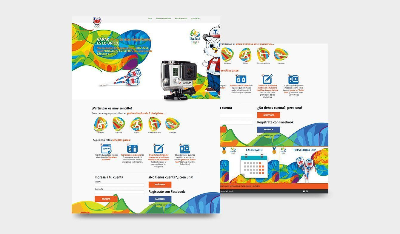 Landing Page para dinámica Tutsi Olímpicos